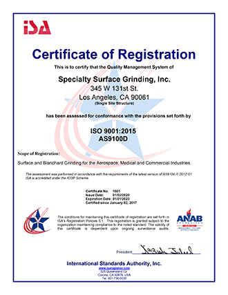 AS/ISO Certificate